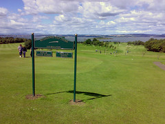 View from outside the clubhouse at Silverknowes Golf Course Edinburgh