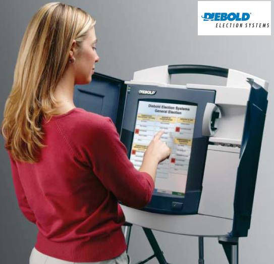 Associated Press fileHow to use a Diebold voting machine is demonstrated in