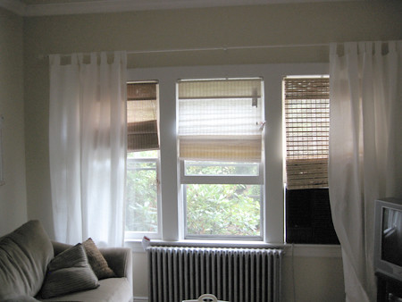 three roman shades from target