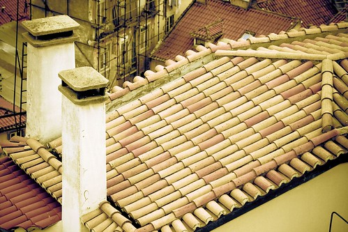 Toned roof tiles
