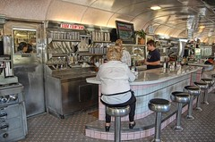 Old Diner and Staff - by Bob Jagendorf