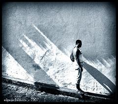 A man with a sun - by Edgardo Balduccio