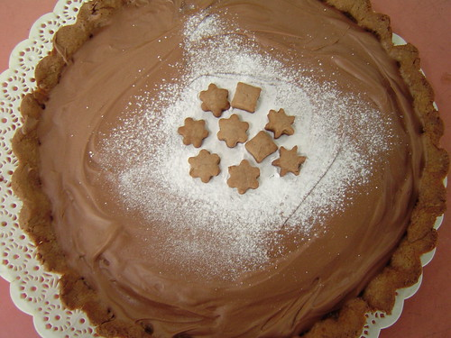 Milk chocolate caramel tart