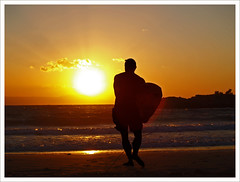 Surfin' Greece (Jordan_K) Tags: sunset sea summer sun silhouette waves vivid jordan safari greece surfin chania thebeachboys