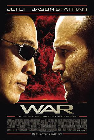War is a Jet Li martial arts/assassin movie set in San Francisco. Jet Li can ...