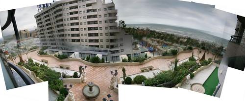 Panorámica desde el hotel (180º)