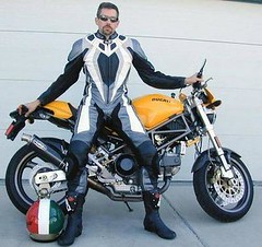 jHJC (wescos) Tags: leather monster motorcycle ducati leathers