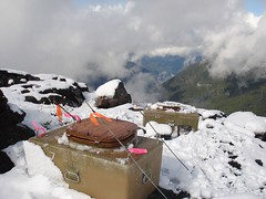 John with a view 3 (jburtrosen) Tags: camping snow washington climbing iceaxe mtbaker crampons northerncascades