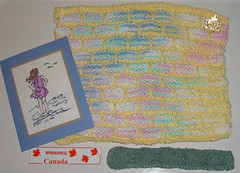 From my Manitoba SWAP partner Annette (Glorianna) Tags: knitting kal washcloths dishcloths