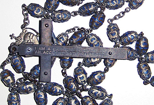 back of rosary cross