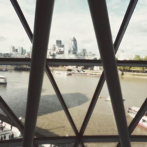 Inside London City Hall ~ view of gerkin