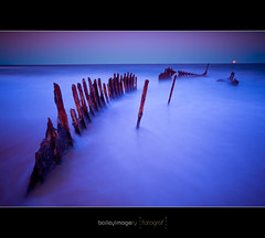S.S. Dicky_Moonrise_6569 (Baileyimagery) Tags: ocean longexposure sea moon seascape water canon sand rust waves seascapes dusk tide fineart rusty shipwreck 5d caloundra longexposures ssdicky lseries shipwrecked dickybeach canon1740mm 5dmark2 dickywreck