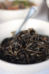 Ca'Dario - pasta with squid ink sauce
