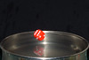 Red Die Levitation (Bobshaw) Tags: dice reflection water die levitation drop falling splash dropped
