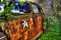 Stars Fade (~EvidencE~) Tags: ontario abandoned army star rust decay upnorth evidence allied campbellford blogtocontact2008