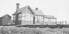 Cottingwith Station (Thorganby )1950 (seanofselby) Tags: light train derwent railway steam valley thorganby dvlr