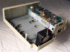HD20 Inside, with Rodime Drive Removed (jd_wages) Tags: elina apple macintosh drive fan mac hard disk serial external hd20 rodime