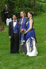 Groom, Officiant, and Bride (KBruneau) Tags: blue bluedress emwedding