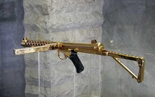 Some of Saddam's and Uday Hussein's Gold Plated Weapons