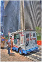 Mister Softee (griffsflickr) Tags: street nyc summer corner skyscrapers icecream hdr griff icecreamtruck customers lucis