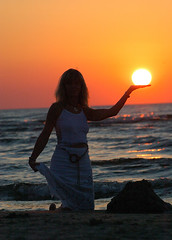 Sun Power - sunset latvia sun power