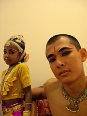 Honey and The Devil... (dinesh_75000) Tags: costumes children student child indian chinese makeup dancer honey jewelery backstage malacca mutants bharatanatyam chindian botaks humanbodygallery2incolors