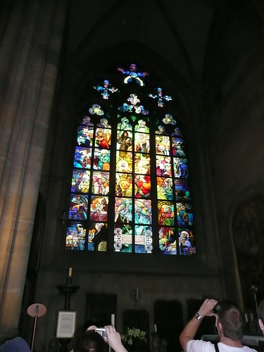 Alfons Mucha stained glass window in St Vitus' Church