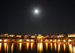 Marina (Martin Cogley) Tags: light moon reflection st festival night marina john star san fiesta juan harbour joan es sant menorca castell