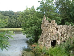 Lakeside Grotto (Kaptain Kobold) Tags: park uk england lake water garden landscape artificial surrey restored grotto folly painshillpark kaptainkobold yourfave