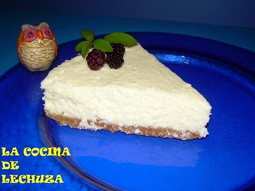 Tarta queso pl.azul porcion