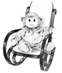 Clown in Rocking Chair - 1984