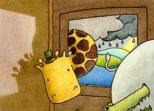 giraffe-peek