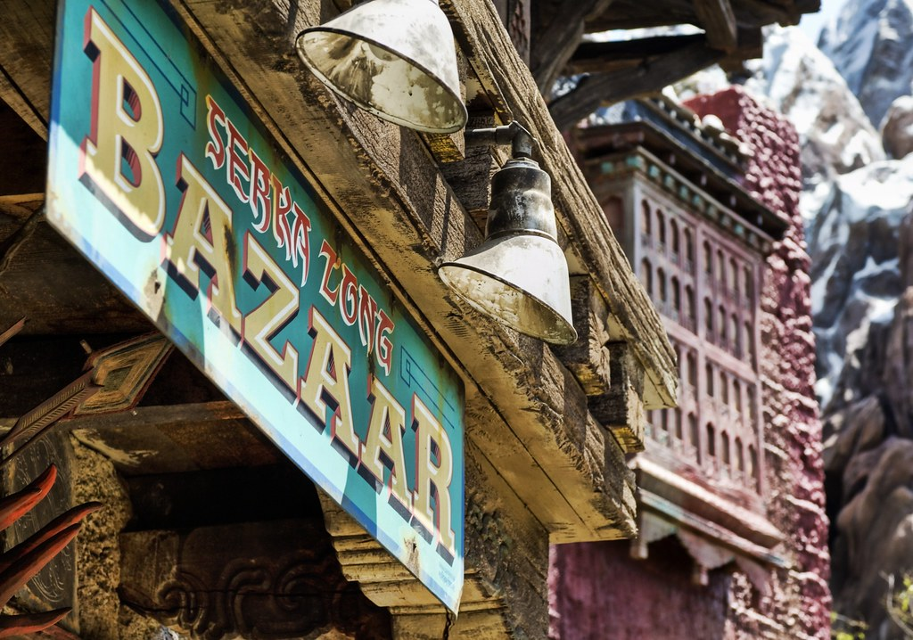 The Bazaar in Serka Zone, near Everest