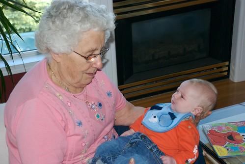 Great Grandma Enns and Damien