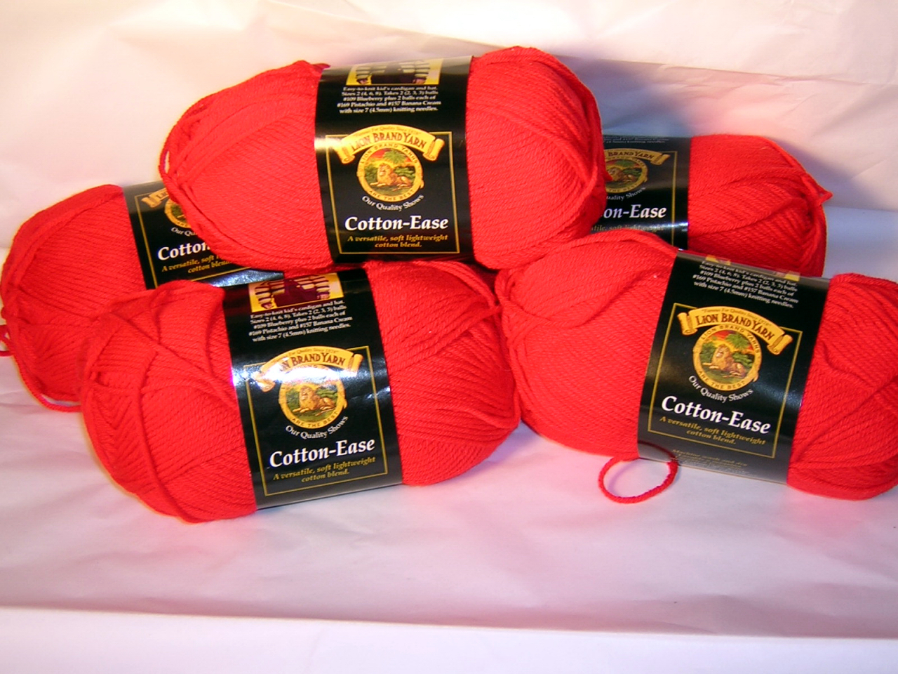 Cherry Red Cotton Ease x 5