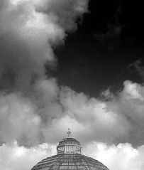 clouds and glass top -  liverpool - england (~ paddypix ~) Tags: sky blackandwhite clouds liverpool photoshop buildings angles picasa oldcity fragments moodyblues ukandireland iusedpicasa urbanside