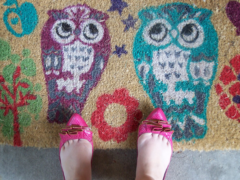 cute shoes (and rug)