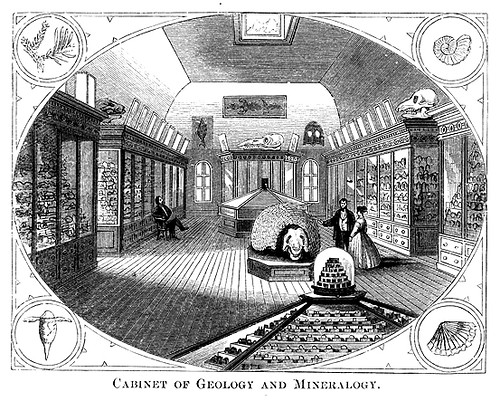 Etching of the original collection in Main Building