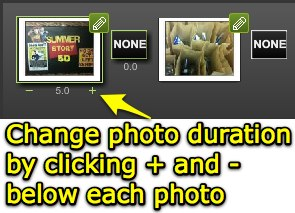 Change photo duration in Kaltura