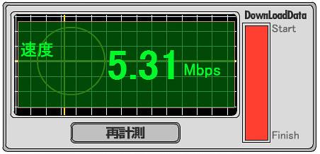 UQ WiMAX goo-スピードテスト 自宅の無線LAN