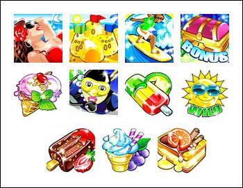 free Beach Life slot game symbols