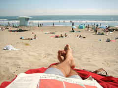(boscoboscobosco) Tags: family red vacation people man art feet beach swimming relax fun reading newspaper sand nap looking cross many sandals families relaxing enjoy blanket napping ps relaxed umbrellas swimsuit enjoying crossed boscoboscobosco