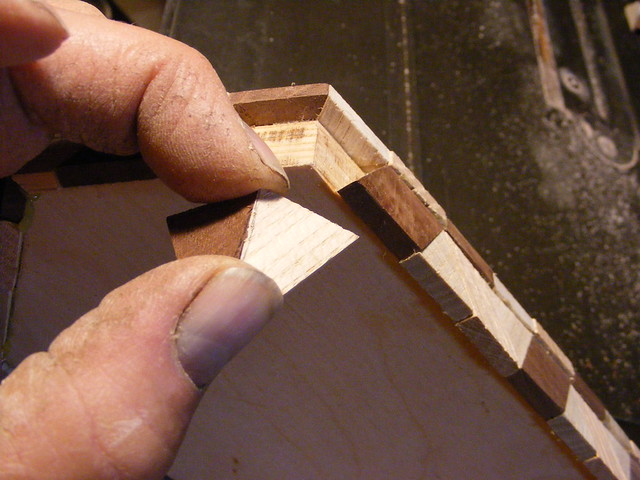 Making a Tumbling Block Cribbage Board #19