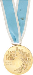 1980 Lake Placid Olympic Hockey gold medal with ribbon