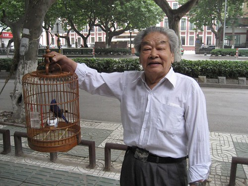Guy with bird. Nanjing