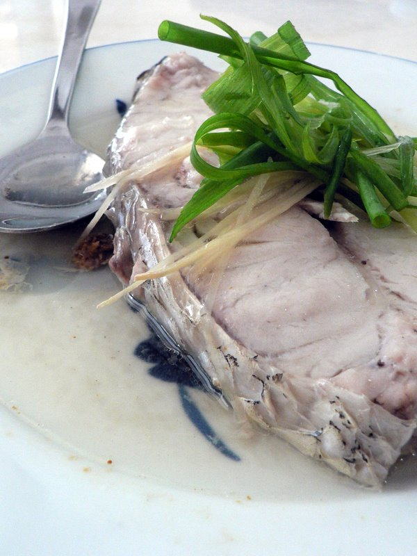 steamed kurau with salted fish