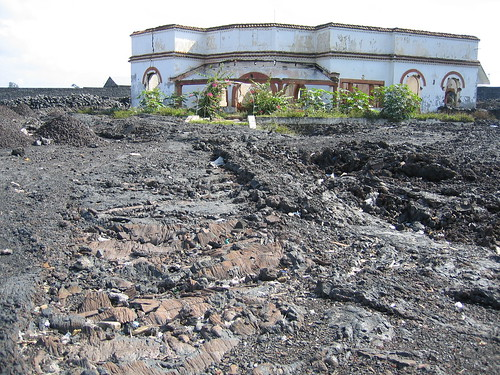 Congo - Goma House Buried under lava