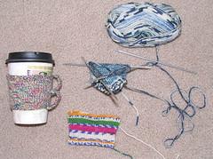 Java Sleeves (blacktabi) Tags: knit cupholders