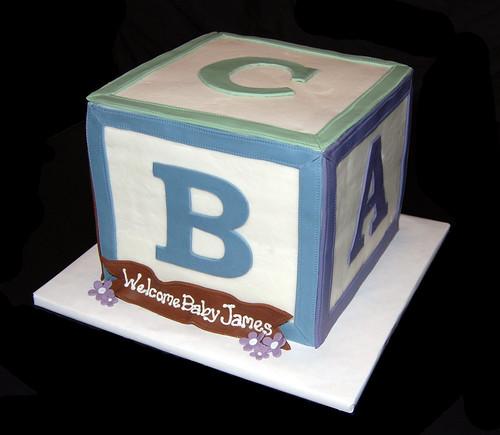 3D Baby Block Cake