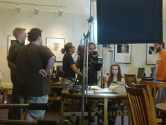 """Fog Warning"" filming at Darien Library"